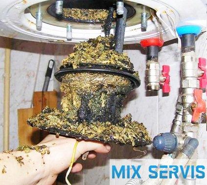 чистка водонагревателя MIX-SERVIS